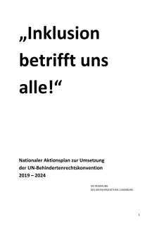 """Inklusion betrifft uns alle!"""