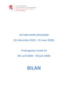 ACTION HIVER 2019/2020